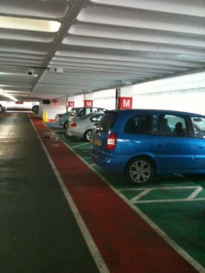 Parent and child parking bays full